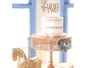 Custom Birthday Cake Topper | Glitter decorations | Personalized Decor | Birthday decorations | First Birthday