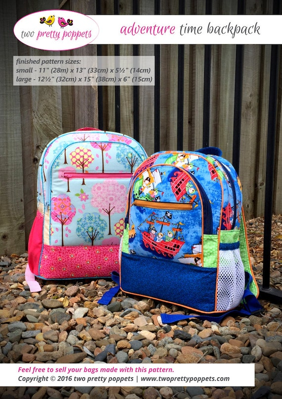 Backpack Pattern Backpack Pdf Adventure Time By