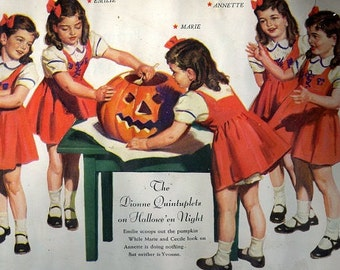 dionne quintuplets pumpkin carving halloween download