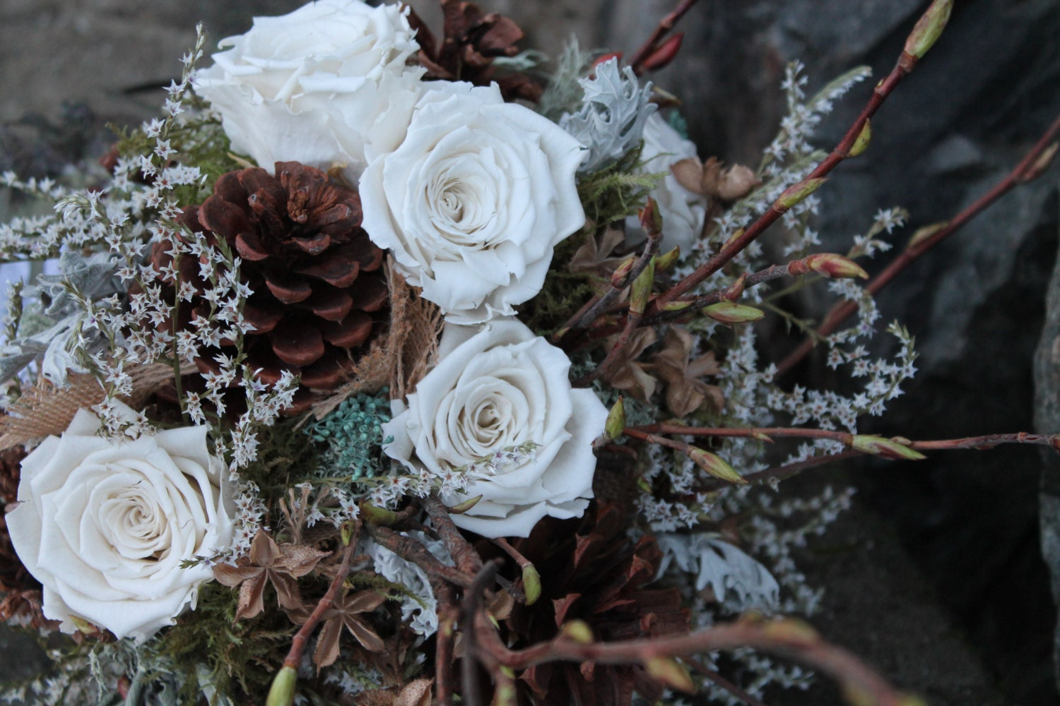 custom dried bridal bouquet dried flower bouquet by westerwisp