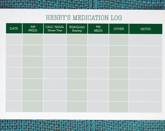 printable medication calendar