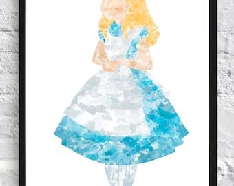 Alice Watercolour - Framed