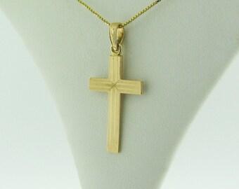 14 K Gold Cross Pendant