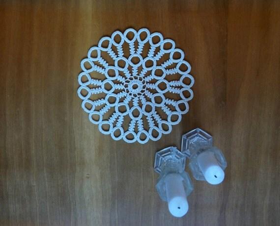 Matrimonio In Rumeno : Centrino piccolo giro rumeno macrame bianco sporco cerchi