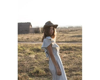 Bohemian  denim 70s inspired DRESS   by Laura Vanvolsem // Folk //size us6