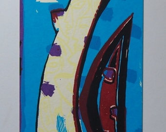 Gottfried Braunling - Hand Pulled Limited Edition Screen Print - Original Hand signed Print