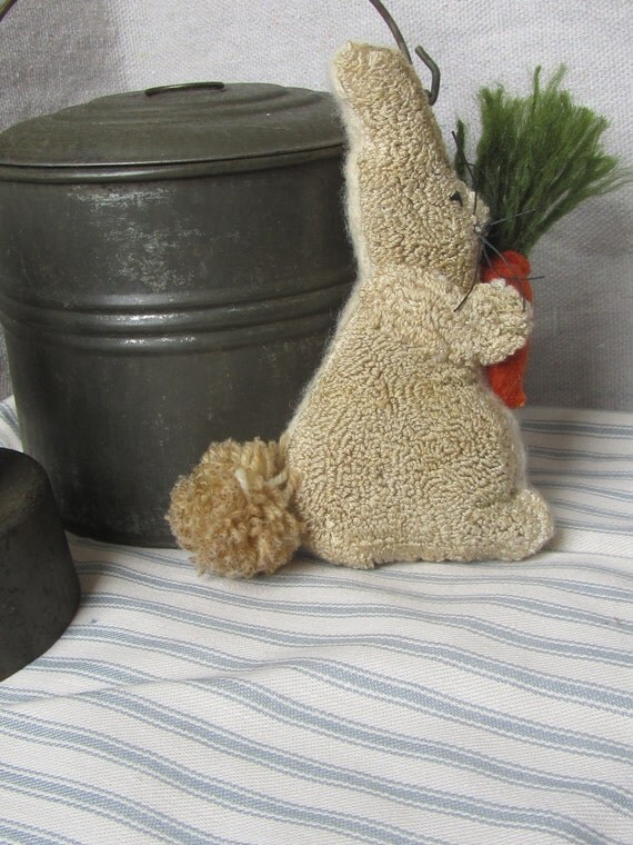 Bunny with Carrot Punch Needle Pattern