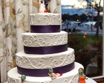 Custom The Walking Dead Themed Zombie Wedding Cake Topper
