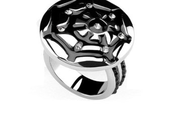 Beautiful spiderweb Stainless Steel Ring