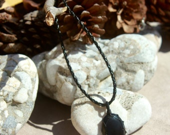 Handmade Black Onyx Necklace Oval Small