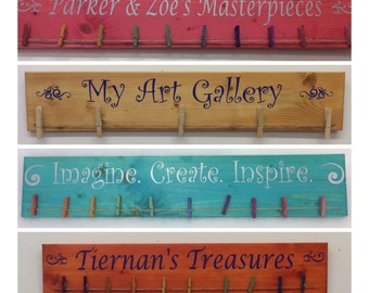 Childrens art display, masterpieces display, kids art sign, kids art hanger,  wall art, kids art display, Kids artwork display, Art Gallery