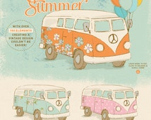 Vintage Summer clipart set / retro clip art / nursery wall art / baby announcements / summer wreath / nursery decor / ice cream clipart