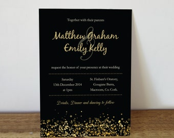 Wedding Invitation - christmas wedding - printable