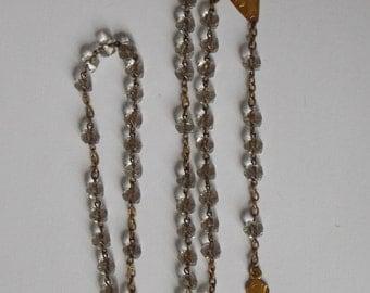 former Rosary glass beads a veneer and veneer