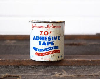 Zostar Johnson & Johnson Medical Tape Roll Tin - Container Made in USA - Advertising Tins