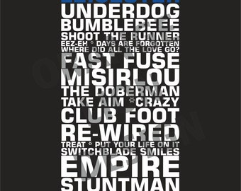 Kasabian Leicester King Power Stadium Gigs Set List Poster May 2016