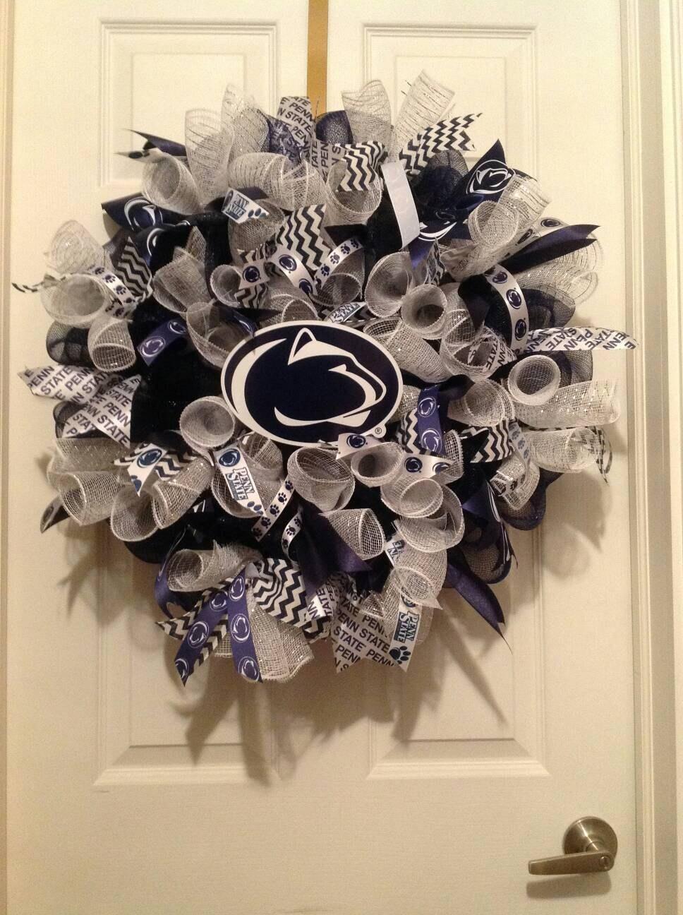 Penn State wreath Penn State deco mesh wreath Penn State