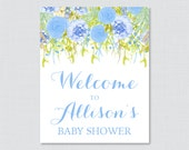 Floral Baby Shower Welcom...