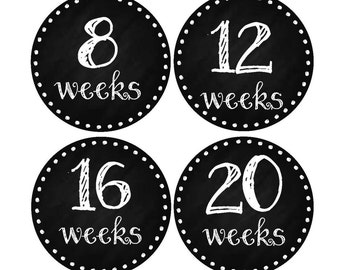 Pregnancy Announcement, Weekly Pregnancy Stickers, Pregnancy Belly Stickers, Pregnancy Photo Prop, Maternity Stickers, P09