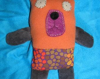 Jack russel fabric Named John ---- art doll for your inner child - ;)