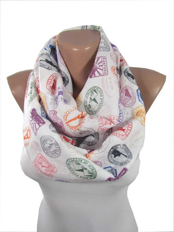 Travel scarf infinity scarf circle scarf women fashion by derins for Travel scarf