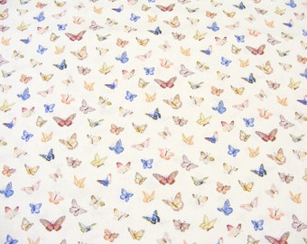 Mini Butterflies fabric~Summer Garden Butterflies~Makower~by 1/2 yd~Cotton
