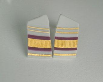 Grenada porcelain earrings