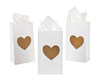 Mini Gold Heart Treat Bags /treat bags/ favor bags