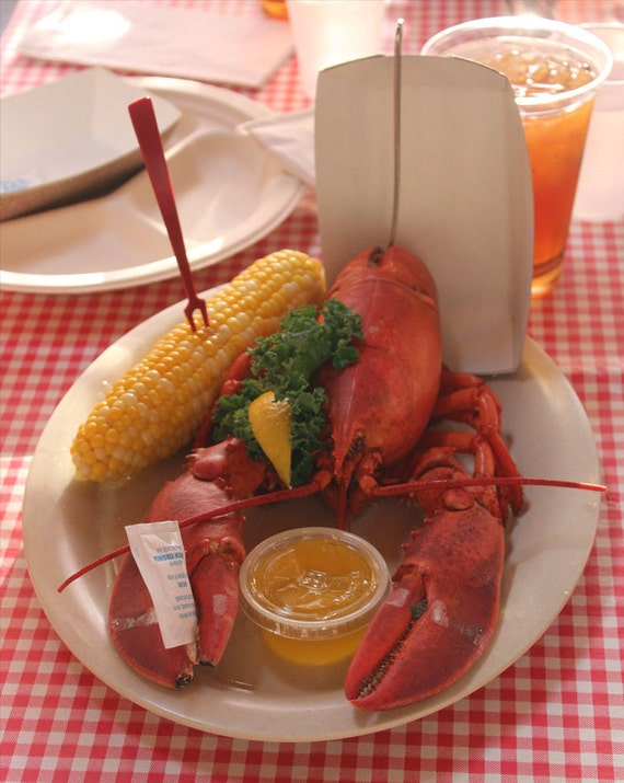 Lobster art wall seafood restaurant decor