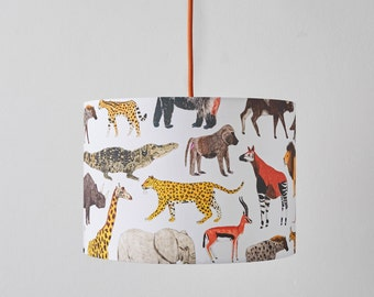 African Animals Lampshade Large