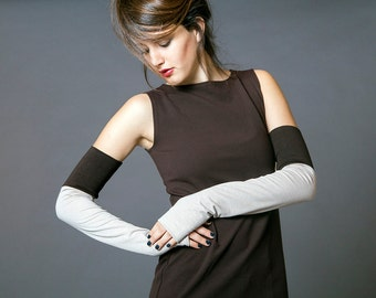 Arm Warmers, Fingerless Gloves, Thumbhole, M-Sleeves