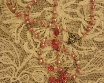 Pink Pearl Rosary