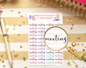 Meeting Planner Stickers, Kate Spade Agenda Accessories, Happy Planner, Carpe Diem, Filofax, Kikki K 056