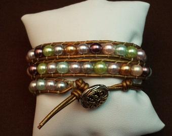 SALE!! 20% OFF!! Leather Wrap Bracelet