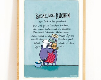 Children's Poster with German Children's Song