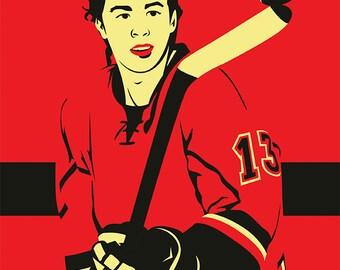 Calgary Flames A3 print
