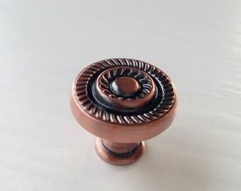 Retro Chic Cabinet Knob Dresser Knobs / Antique Copper Kitchen Cabinet Pull Knobs Furniture Hardware