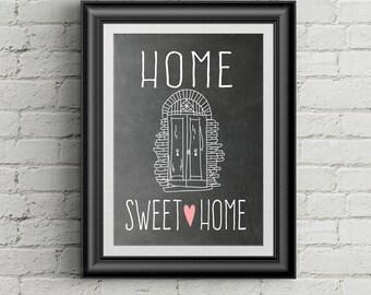 Home Sweet Home Wall Art Print Home Sweet Home Wall Decor Entryway Decor Housewarming Gift