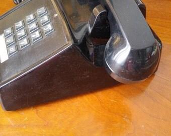 Black vintage desk phone