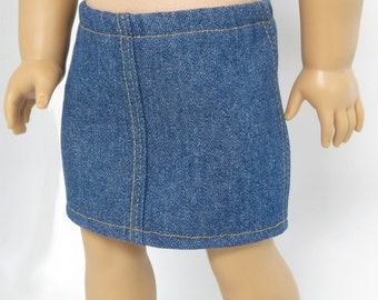 American Girl Doll Clothes.  Denim Skirt.