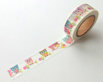 Washi tape, cute owls