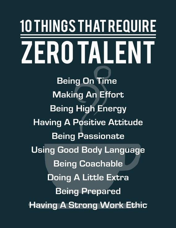 Zany image in 10 things that require zero talent printable