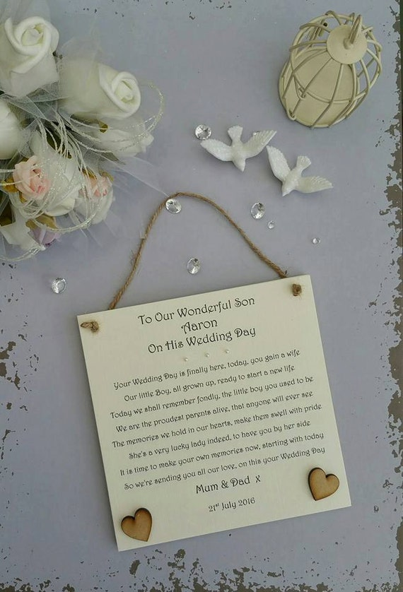 Gift For Stepson On Wedding Day : Son Wedding Day Gift, Groom Wedding Day Gift, Groom Personalised ...