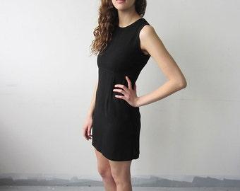 Minimal Black 90s Mini Dress