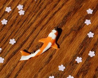 Japanese koi carp polymer clay necklace