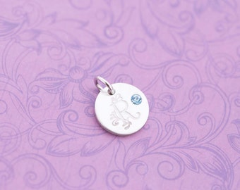 SALE - Mother's Charm - Initial Jewelry - Hand Stamped Jewelry - Engraved Charm - Birthstone Charm - Kid's Name Jewelry - New Mom