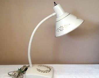 Vintage Gooseneck Lamp, Hollywood Regency