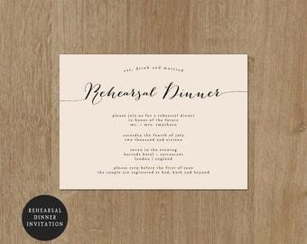 Printable Wedding Rehearsal Dinner - Rehearsal Dinner Invitation - Printable Wedding Invitation - Ellen Collection