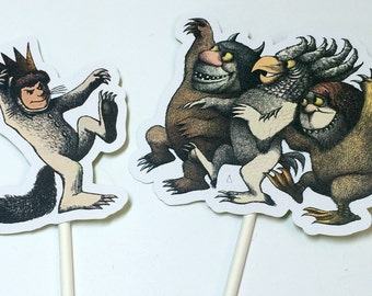 Where the Wild Things Are Party Supplies - Cupcake Toppers,Where the Wild Things Are Birthday Party Decorations,Wild Things Baby Shower