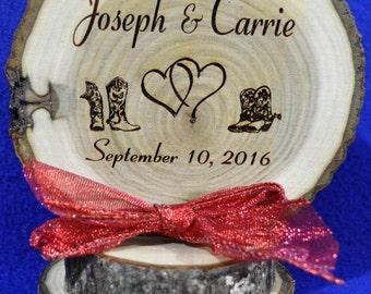Western Cake Top ~ Rustic Wedding ~ Barn Wedding ~ Rustic Cake Top ~ Cowboy Wedding ~ Custom Cake Top ~ Western Cake Topper ~ Cowboy Boots ~